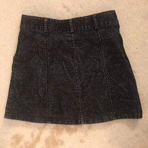 BDG Skirts - BDG Black Coudoray Button Up Skirt- Sz 2